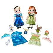 Frozen Disney Animator's Collection Anna And Elsa Deluxe Limited Singing Dolls
