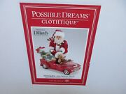 Possible Dreams Clothtique Red Peddle Truck With Santa Lighted Nib 6003456d Htf