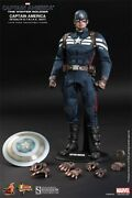 Hot Toys Mms242 Captain America 2 Stealth Strike Suit 12 1/6 Scale Figure