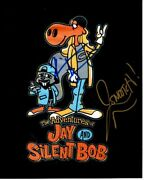 Jason Mewes And Kevin Smith Signed Jay And Silent Bob Rocky And Bullwinkle Photo