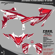 Yfz450r Graphics 2014-newer Dfr Df Edition White Red Sides Fenders