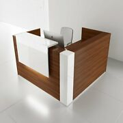 Tera 65 X 65 L Shape Reception Desk With Lighting Panel And Corners
