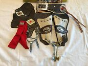 Vintage Deluxe Toy Creations 1957 Leather Holsters Cowboy Outfit With Box