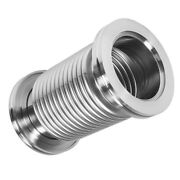 Iso63 300mm Bellows Hose Metal Vacuum Fitting Pipe Tube , Stainless Steel