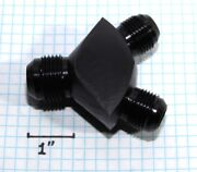 Y-block Male Flare Fitting Adapter 2x An10 10-an Male To An12 12-an Male Black