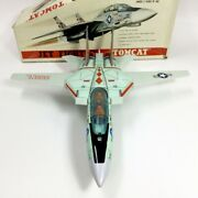 Nomura Toy F-14s Jet Fighter Tomcat Tin Toy Battery Operated
