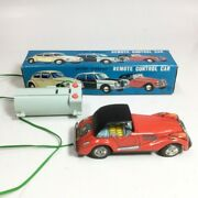 Vintage Control Car Mg Tin Toy Battery Operted 1960s