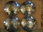 Gently/used 1948 Chevrolet 10 Dog Dish/hub Cap Set/four Clean/nice Bowties