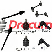 8pc Front Lower Ball Joints Inner Outer Tie Rods Sway Bar For Ford Probe 626 Mx6