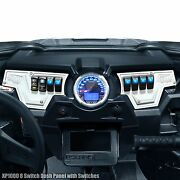 8 Switch Dash Panel Left And Right With Switches White Powdercoated For Rzr Xp1000