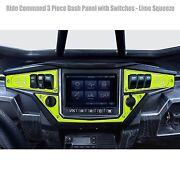 Ride Command Xp1000 6 Switch Dash Panel Billet Aluminum Lime Squeeze W/ Switches