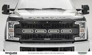 For 17-19 Ford F250 F350 F450 F550 Super Duty Front Black Mild Steel Grille