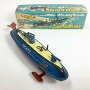 Marusan Submarine Tin Toy Friction Operated Friction 1960s