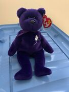 Ty Beanie Baby Princess Diana Purple Bear 1997 Retired Pe Pellets Made In China
