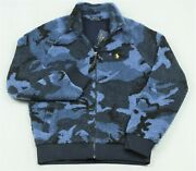 Polo Sherpa Camo Jacket Full Zip Blue Camouflage L Large Nwt 188