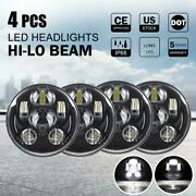 Dot 5.75 5-3/4 Led Headlights 4pc Hi/lo Beam For Lincoln Continental 1962-1979