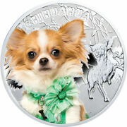Chihuahua Manandrsquos Best Friends Proof Silver Coin 1 Niue 2014