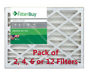 Filterbuy 16x25x4 Air Filters, Pleated Replacement For Hvac Ac Furnace Merv 8