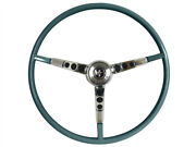 1964.5 Ford Mustang Steering Wheel Kit W/horn Ring And Spring - Aqua