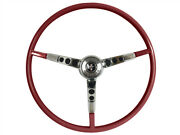 1964.5 Ford Mustang Steering Wheel Kit W/horn Ring And Spring - Red