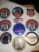 10 Bush Campaign Button Lot--good Shape-- Getting Harder To Find