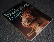 Treasury Of Woodcarving Designs By Bridgewater, Gill Paperback Book The Fast