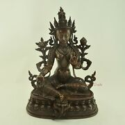 Hand Carved 13 Green Tara / Drolma Copper Statue For Monastery From Patan Nepal