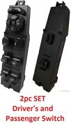 Master Power Window Switch For 1997-2001 Jeep Cherokee 2pc Set New