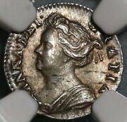 1709 Ngc Ms 62 Anne Penny Great Britain Silver Coin Pop 1/0 20012102c