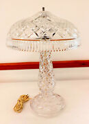 Waterford Cut Crystal Mushroom 21 Beaumont Electric 3 Light Table Lamp C130