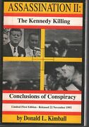 Assassination Ii The Kennedy Killing Donald L Kimball 1st Ed. Signed 011020ame