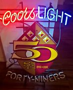 San Francisco 49ers Coors Light Neon Sign 28x23 Celebrating 50 Years 1946-96