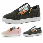 Dailyshoes Womenand039s Comfortable Side Pocket Flat Sneaker Tennis Cute Causal Shoes