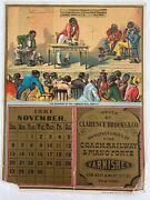 Rare 1881 Brooks Varnishes Calendar Page Negro Scorned In The Corner Will Reply