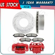 Rear Brake Rotors Calipers With Ceramic Pads For 1999 Ford F-350 Super Duty