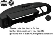 Black Stitching Dash Dashboard Real Leather Cover Fits Fiat X1/9 X19