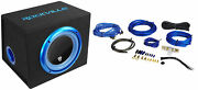 Rockville Rvb10.1a 10 500w Powered Car Subwoofer+sub Enclosure Box+amp Wire Kit