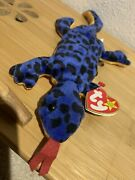 Ty Beanie Babies Rare Retired Lizzy. 5/1/1995. Style 4033 P.v.c. Pellets