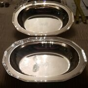 Pair Of And Co. Sterling Silver Serving Bowls Art Deco