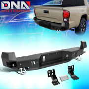 For 2016-2020 Toyota Tacoma Rear Steel Step Bumper Face Bar W/d-ring Shackles