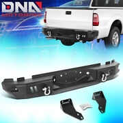 For 1999-2016 Ford F250 F350 Super Duty Rear Steel Step Bumper W/d-ring Shackles