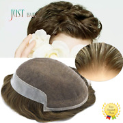 French Lace Mens Toupee Poly Skin Hairpieces Remy Human Hair Replacement Systems