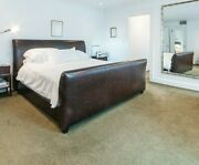 Mitchell Gold Abc Carpet And Home Barron King Size Leather Sleigh Bed