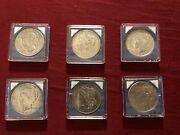 Peace Silver Dollars - Six In Lot One Owner All Six In Groups.1923 Not Shown