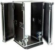 Fly Drive 20u Space Rack Dj Amplifier Case With 18-inch Body Depth And Wheels