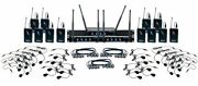 12 Channel Uhf Wireless Headset And Lapel Mic System With Mic-on-chip Technology