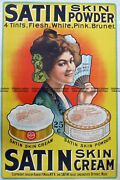 Antique Print 23-336 Poster For Satin Skin Powder By Albert Wood C.1903