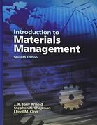 Introduction To Materials Management Steve Chapman