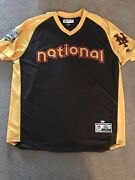 Noah Syndergaard Game Worn Used 2016 All-star Game Batting Practice Jersey - Mlb