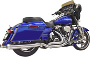 Bassani 2-2 Stainless Steel 4 Exhaust System 17-20 Harley Touring Flh Flhr